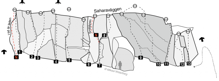 Saharaväggen - Nyturer - Klättring i Stockholm